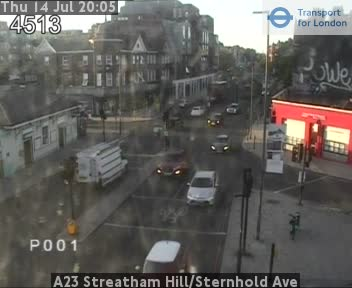 A23 Streatham Hill / Sternhold Avenue traffic camera.