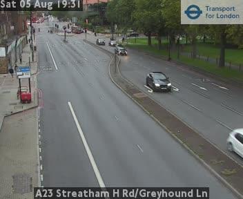 A23 Streatham High Road / Greyhound Lane traffic camera.
