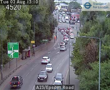 A23 / Epsom Road traffic camera.