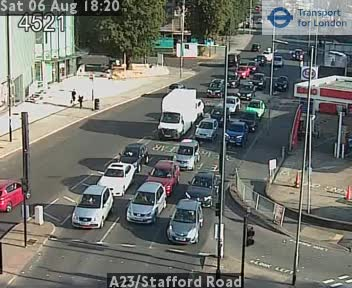 A23 / Stafford Road traffic camera.