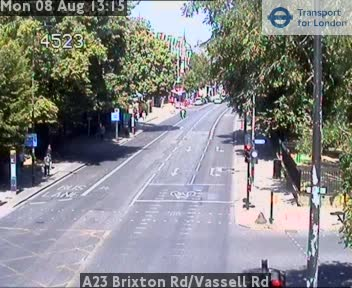 A23 Brixton Road / Vassell Road traffic camera.