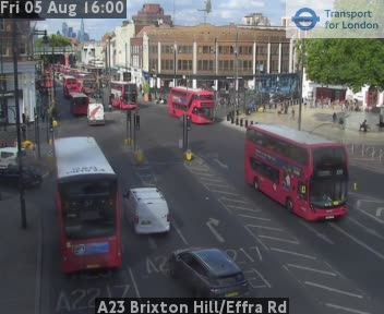 A23 Brixton Hillill / Effra Road traffic camera.