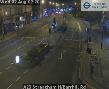 A23 Streatham High / Barrhill Road traffic camera.