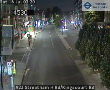 A23 Streatham High Road / Kingscourt Road traffic camera.