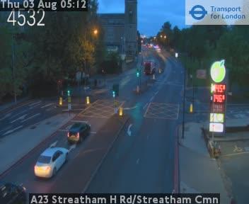 A23 Streatham High Road / Streatham Common traffic camera.