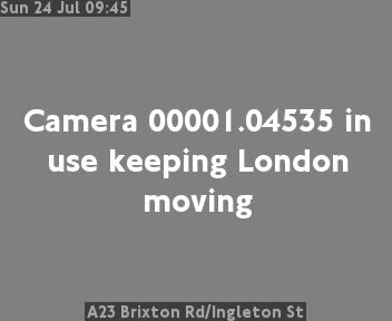 A23 Brixton Road / Ingleton Street traffic camera.