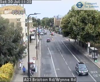 A23 Brixton Road / Wynne Road traffic camera.