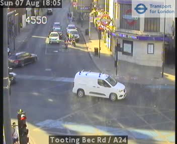 Tooting Bec Road  /  A24 traffic camera.