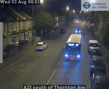 A23 south of Thornton Avenue traffic camera.