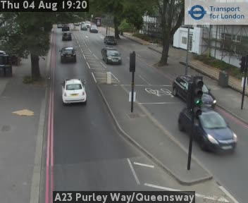 A23 Purley Way / Queensway traffic camera.