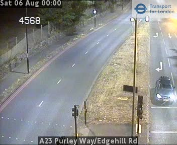 A23 Purley Way / Edgehill Road traffic camera.