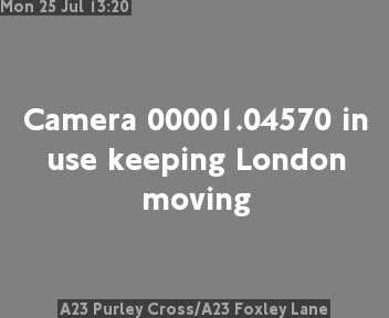 A23 Purley Cross / A23 Foxley Lane traffic camera.
