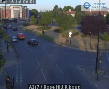 A217  /  Rose Hill Roundabout traffic camera.