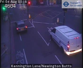 Kennington Lane / Newington Butts traffic camera.