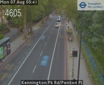 Kennington Park Road / Penton Pl traffic camera.