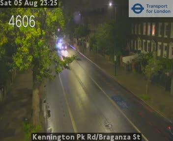 Kennington Park Road / Braganza Street traffic camera.
