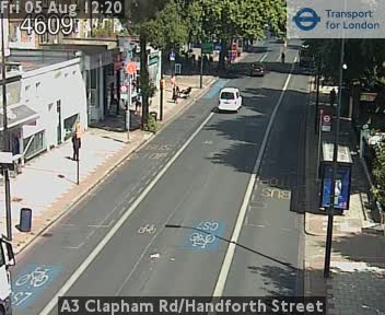 A3 Clapham Road / Handforth Street CCTV | London Traffic Cameras