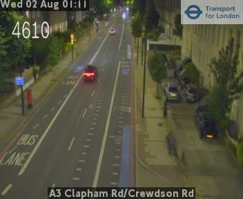 A3 Clapham Road / Crewdson Road traffic camera.