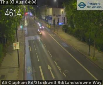 A3 Clapham Road / Stockwell Road / Landsdowne Way traffic camera.