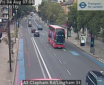 A3 Clapham Road / Lingham Street traffic camera.