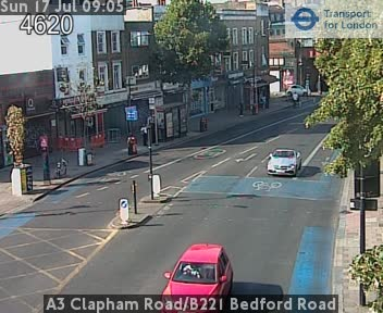 A3 Clapham Road / B221 Bedford Road traffic camera.