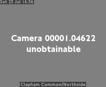 Clapham Common / Northside traffic camera.