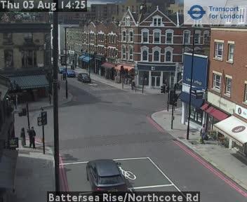 Battersea Rise / Northcote Road traffic camera.