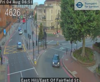 East Hill / East Of Fairfield Street traffic camera.