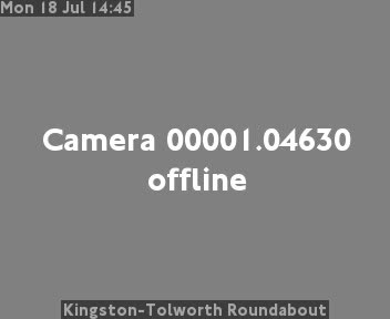 Kingston-Tolworth Roundabout traffic camera.