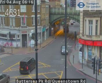 Battersea Park Road / Queenstown Road traffic camera.