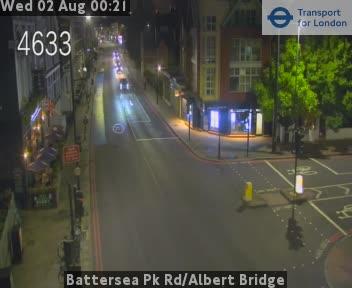 Battersea Park Road / Albert Bridge traffic camera.
