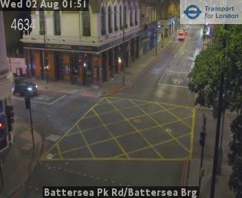 Battersea Park Road / Battersea Bridge traffic camera.