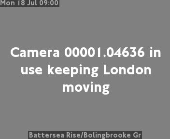 Battersea Rise / Bolingbrooke Gr traffic camera.
