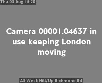 A3 West Hill / Up Richmond Road traffic camera.