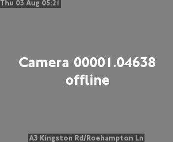 A3 Kingston Road / Roehampton Lane traffic camera.