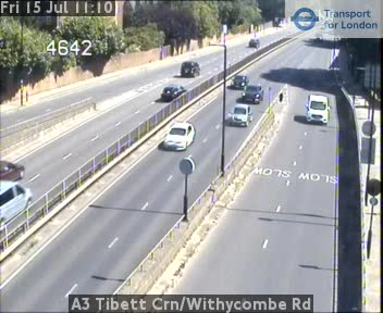 A3 Tibett Corner / Withycombe Road traffic camera.