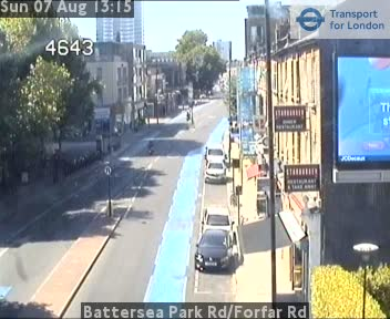 Battersea Park Road / Forfar Road traffic camera.