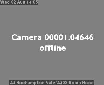 A3 Roehampton Vale / A308 Robin Hood traffic camera.