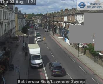 Battersea Rise / Lavender Sweep traffic camera.