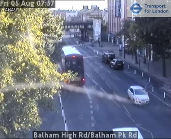 Balham High Road / Balham Park Road traffic camera.