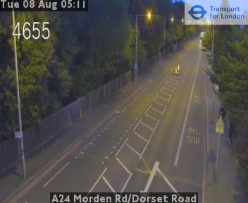 A24 Morden Road / Dorset Road traffic camera.