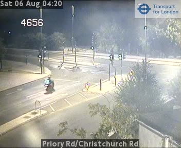 Priory Road / Christchurch Road traffic camera.