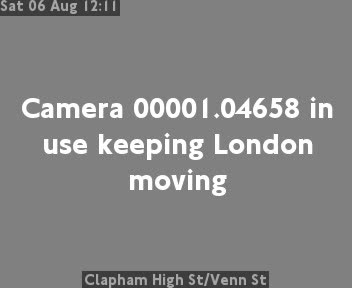 Clapham High Street / Venn Street traffic camera.