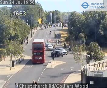 Christchurch Road / Colliers Wood traffic camera.