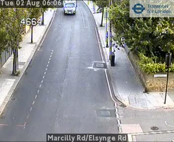 Marcilly Road / Elsynge Road traffic camera.