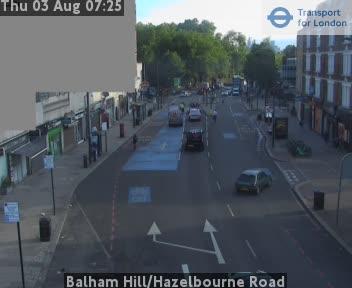 Balham Hill / Hazelbourne Road traffic camera.