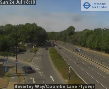 Beverley Way / Coombe Lane Flyover traffic camera.