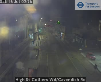 High Street Colliers Wood / Cavendish Road traffic camera.