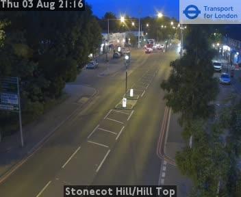 Stonecot Hill / Hill Top traffic camera.