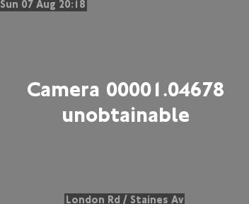 London Road  /  Staines Avenue traffic camera.